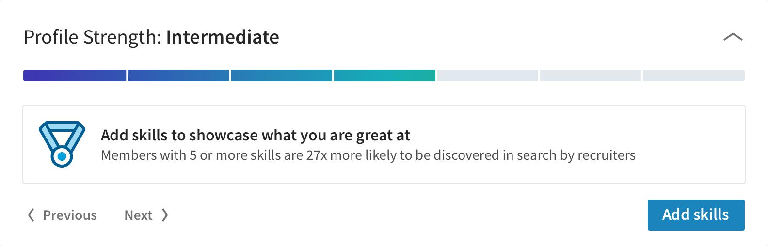 Goal Gradient Linkedin