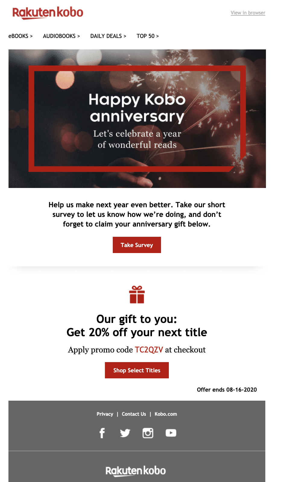 Fresh Start Effect Kobo Email