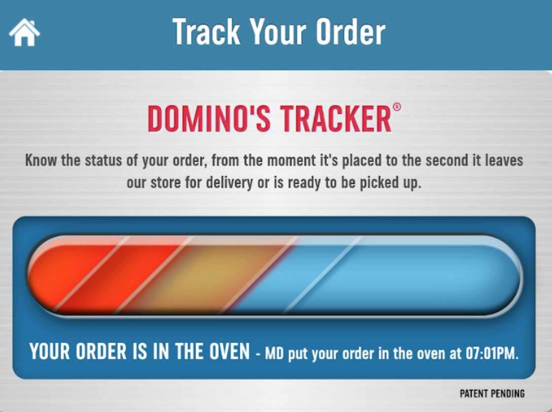 Dominos Pizza Tracker Operational Transparency