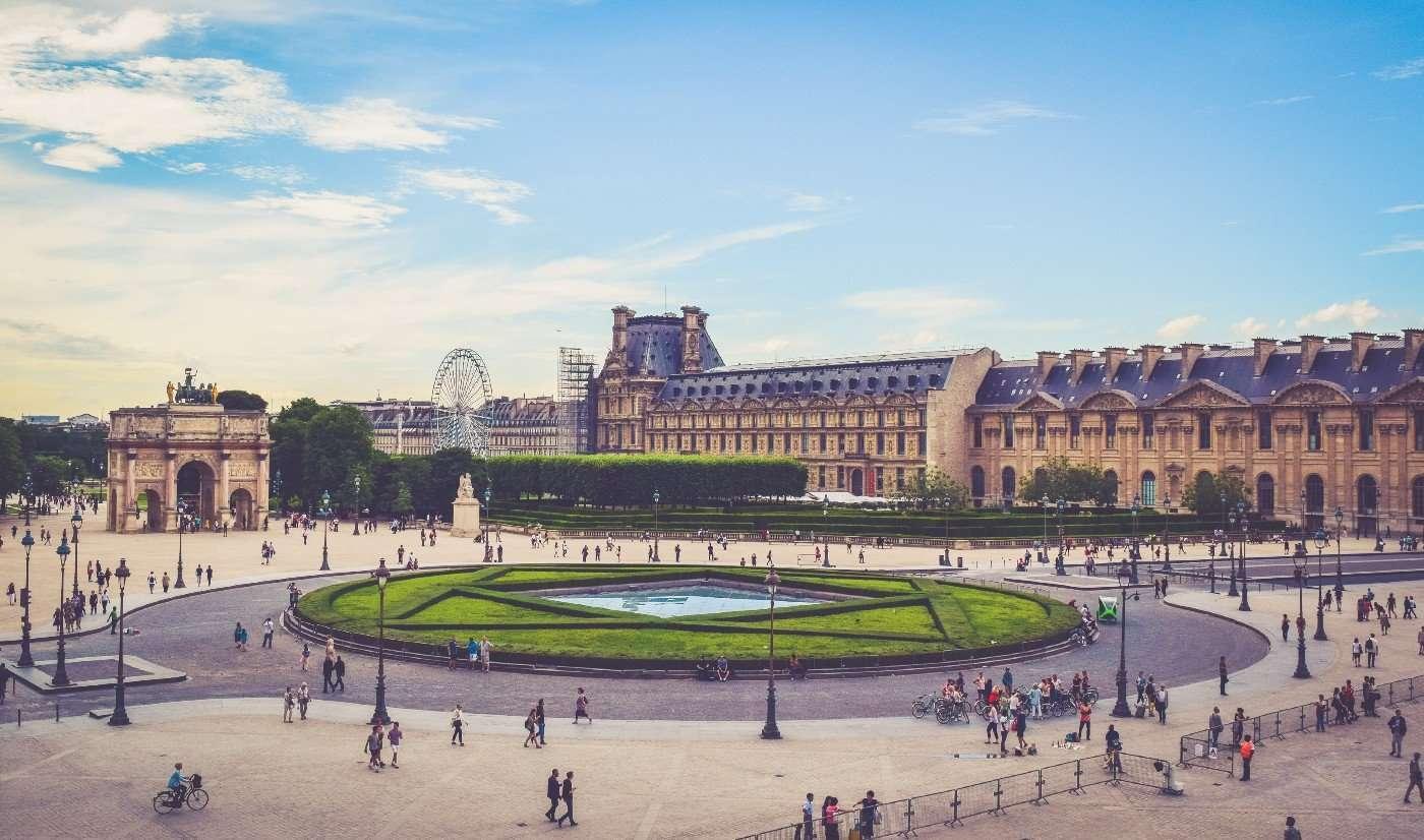 Public square in Europe