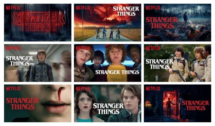 Netflix Thumbnails Stranger Things