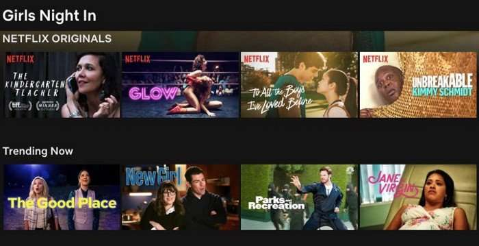 Netflix Trending Now