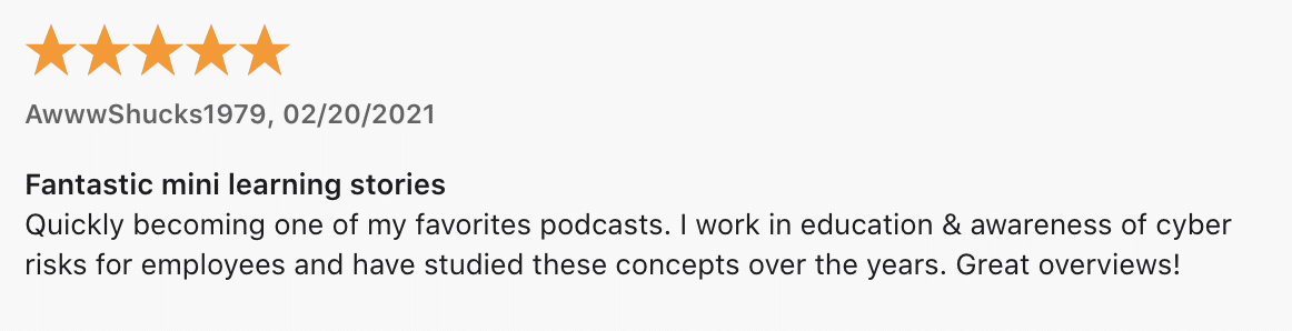 Podcast Review