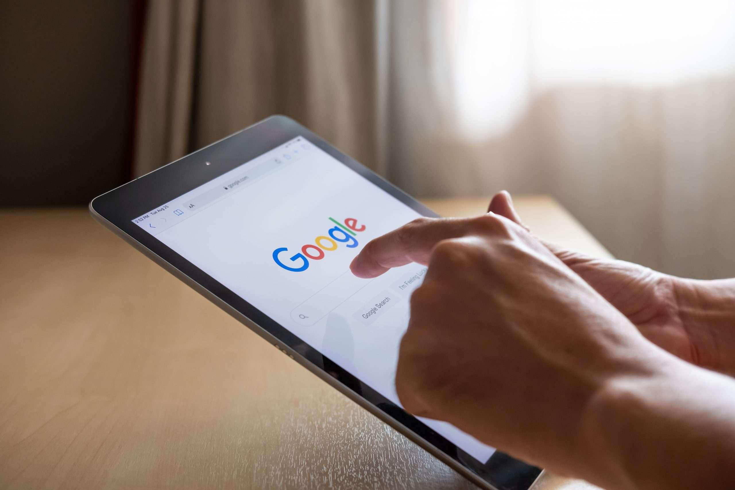 Google Image on Tablet